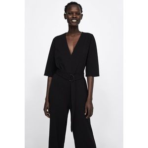 NWT Zara Jumpsuit with Belt and Buckle